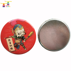 New Arrive Wholesale Price Material Soft Rubber Button 25mm Cloth Tin Badges With Silks Promotional Pin Badge Component Shapes