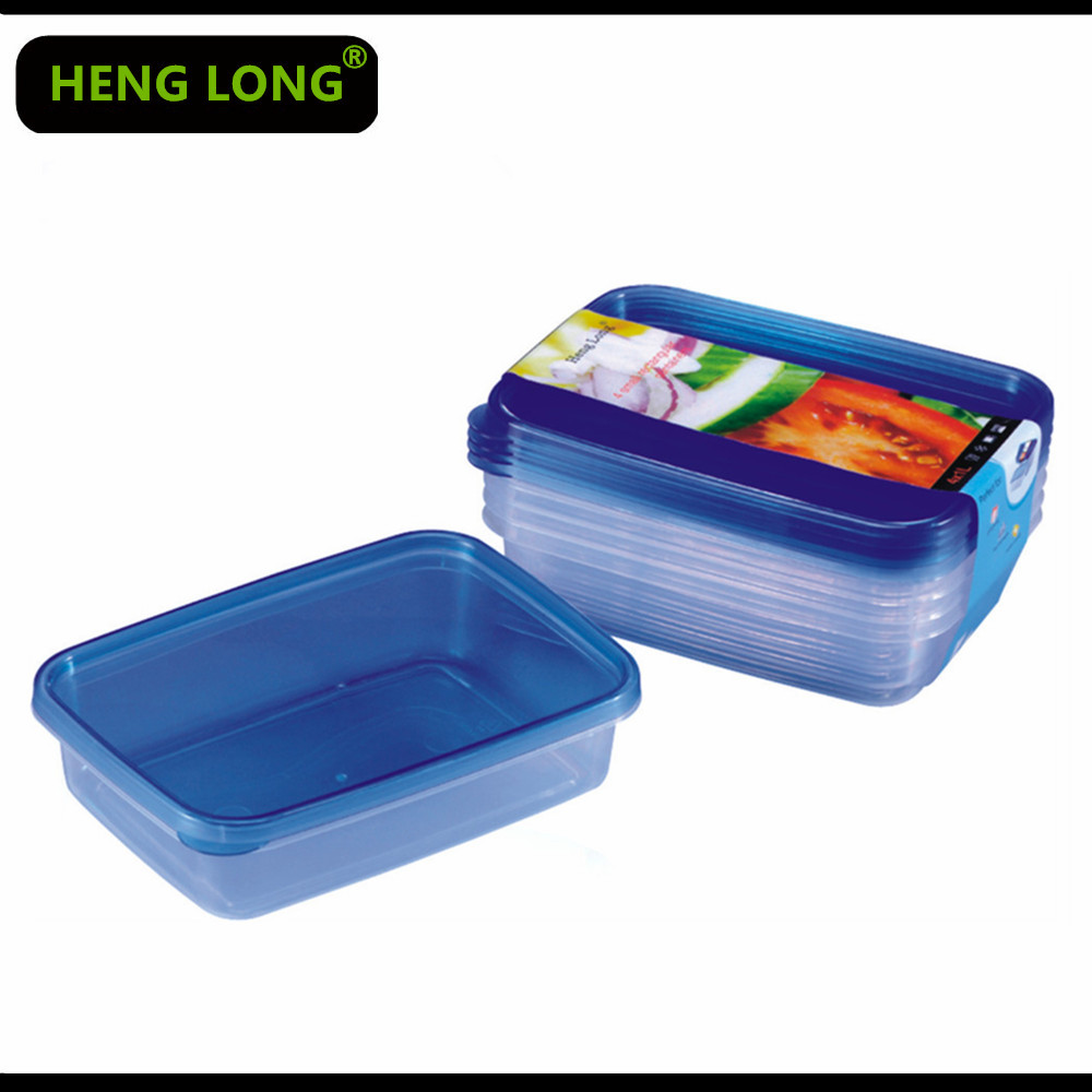 1L rectangular disposable plastic food container bento lunch box hot pack