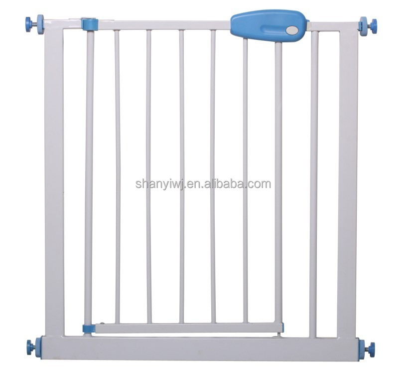 Pressure mounted gate Metal door and stairs baby safety gate
