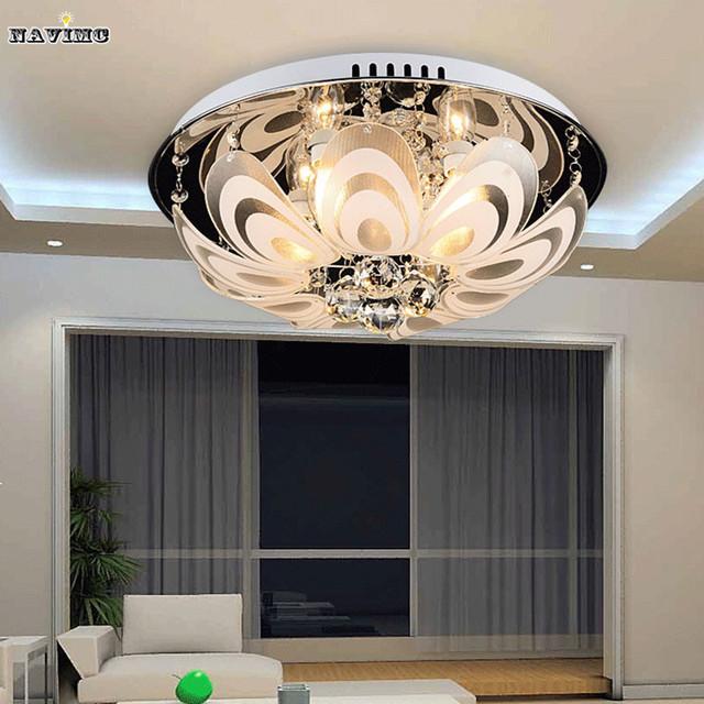 modernen minimalistischen wohnzimmer lampe kristall lampe led deckenleuchte schlafzimmer lampe. Black Bedroom Furniture Sets. Home Design Ideas