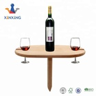 Nature Color Outdoor Picnic Wooden Wine Glass Holder