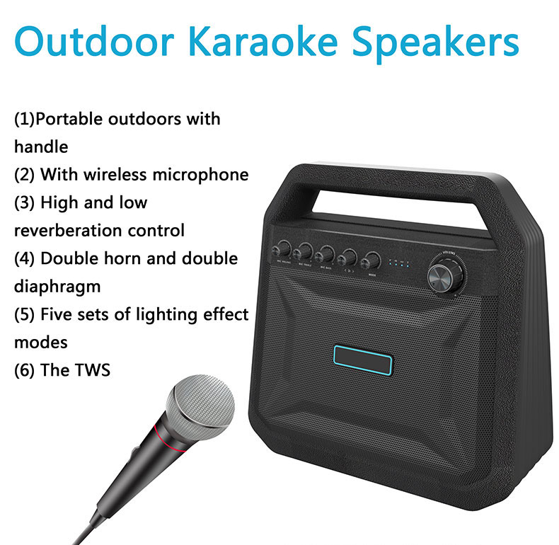K10A  subwoofer bass tws speaker stand bluetooth / Portable karaoke speaker wireless with excellent sound