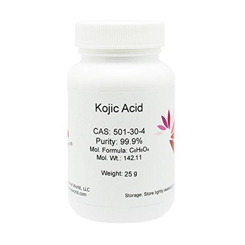 100% Natural Kojic Acid Powder, 99.9% Pure, 25g, Skin Whitener, Lightener