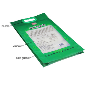Plastic Handle Pp Non Woven Rice Bag 25kg Thailand Rice Bags Pp Woven Transparent Material Made Safe Food Bag