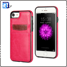 Popular items phone accessory card slots mobile phone leather case cover for iphone 7 case