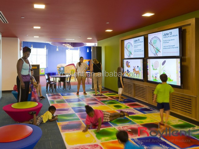 New Magical Children Pvc Flooring Liquid 3d Floors Dance