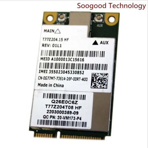 Buy DW5630 for Dell Qualcomm Gobi 3000 3G WWAN Mini PCI-e