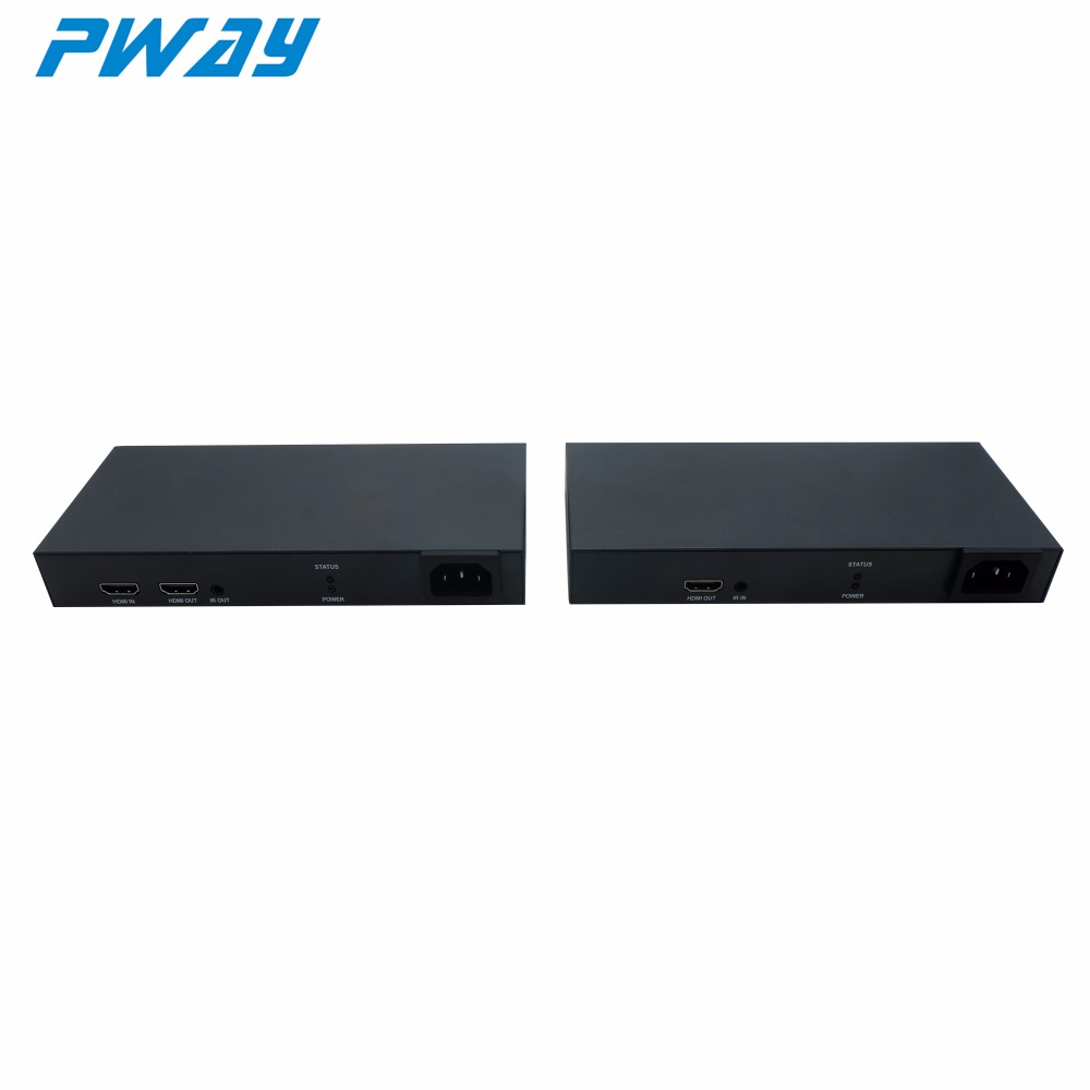 PWAY H.264 Extender Transmitter and receiver 200m plc homeplug powerline adapter long distance HDMI over Powerline