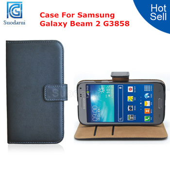 For Samsung Galaxy Beam 2 G3858 Card Slots Wallet Stand Flip Leather Case
