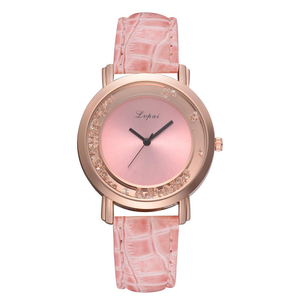 ManxiVoo Women Watch, Ladies Casual Dial Analog Quartz Watches Faux Leather Band Bracelet Watch