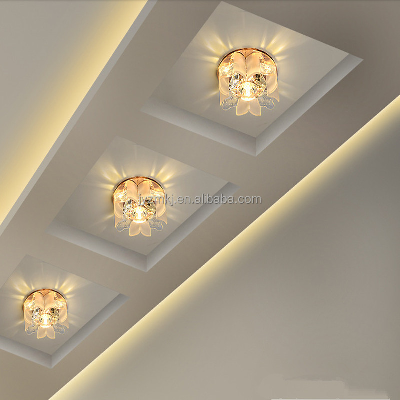 High quality wholesale corridor lamp porch crystal ceiling decoration light