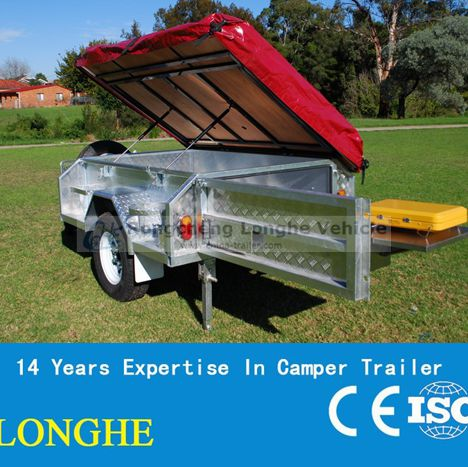 2016 Rongcheng trailer, new material tube camping trailer with LED light system