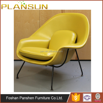 Replica Retro Modern Contemporary Design Top Grade Geniune Leather Saarinen Womb  Chair