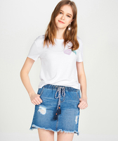 Custom women cheap white t shirts in bulk tshirt embroidery