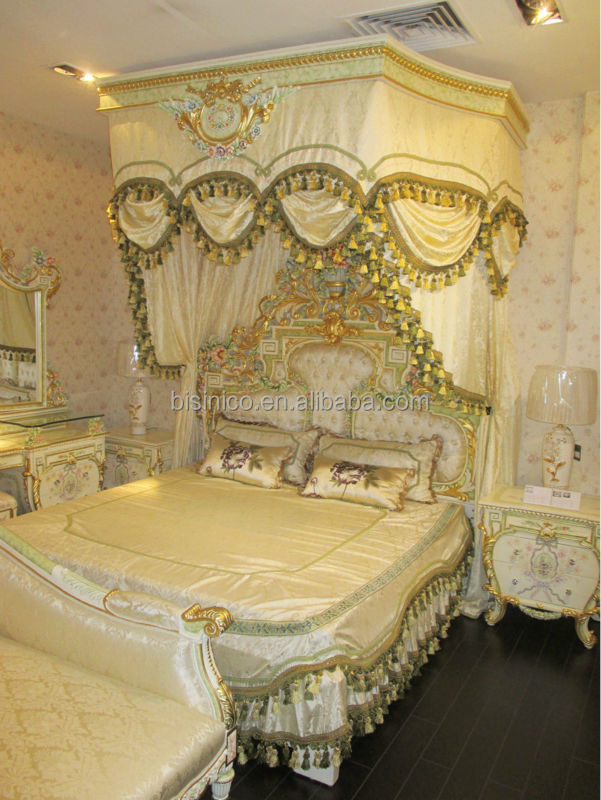 Gold Canopy Bed King