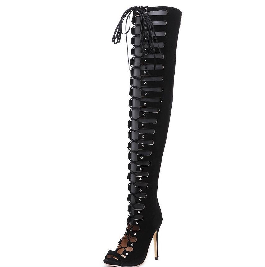 Mujer Sandalias Sexy Caliente 2017 Mujeres Encaje Talón Damas Del Buy Romanas Las Zapatos cordones En Alto K2102a De yn0wvNOm8