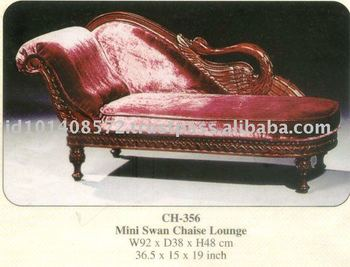 Mini swan chaise lounge kids furniture mahogany indoor for Another word for chaise lounge