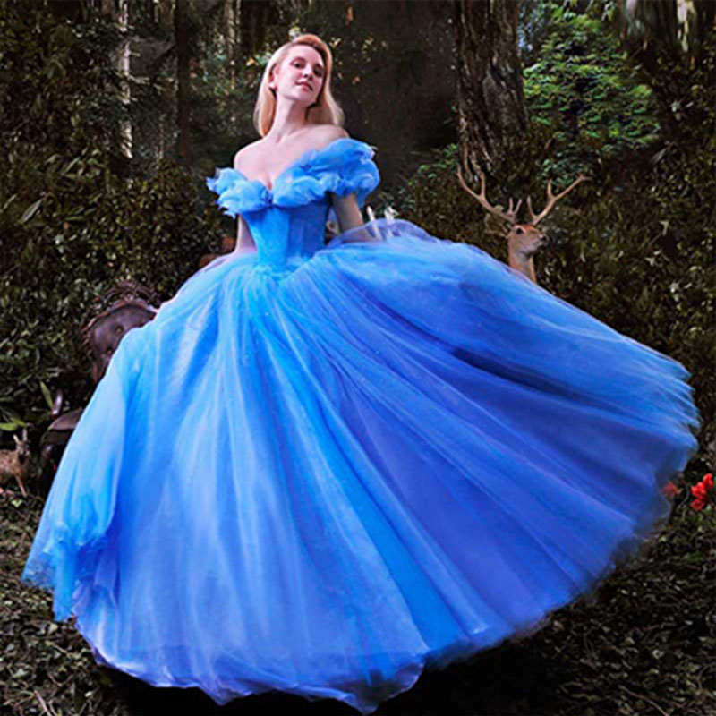 Cinderella Wedding: Aliexpress.com : Buy Wowbridal New Movie Deluxe Blue
