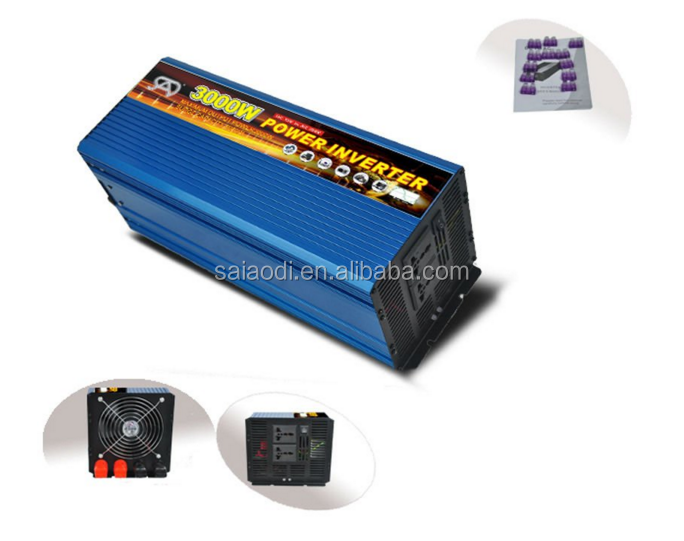 3000w Pure Sine Wave Power Inverters for indoor electricity dc to ac 12v 220v Voltage Converters with CE ROHS