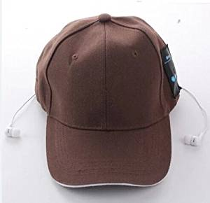 Momoday® Wireless Bluetooth Baseball Cap Music Sun Hat Hands-free Phone Call Answer Ears-free With Headphones and Mic Bluetooth 4.0 + EDR Music Hat Bluetooth Headset Headphone (Brown)
