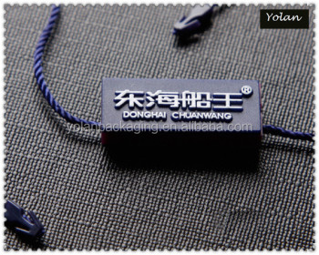 Black High Quality Swing Tags with Strings LOGO Stamping