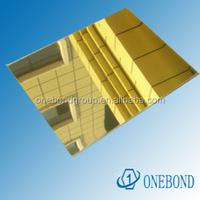 Gold mirror aluminum composite panel
