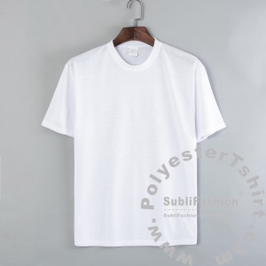 17007PT15XXL 50pcs Sublimation Blank Men T-shirt Polyester Adult Tee Shirt Male T-shirt Size XXL