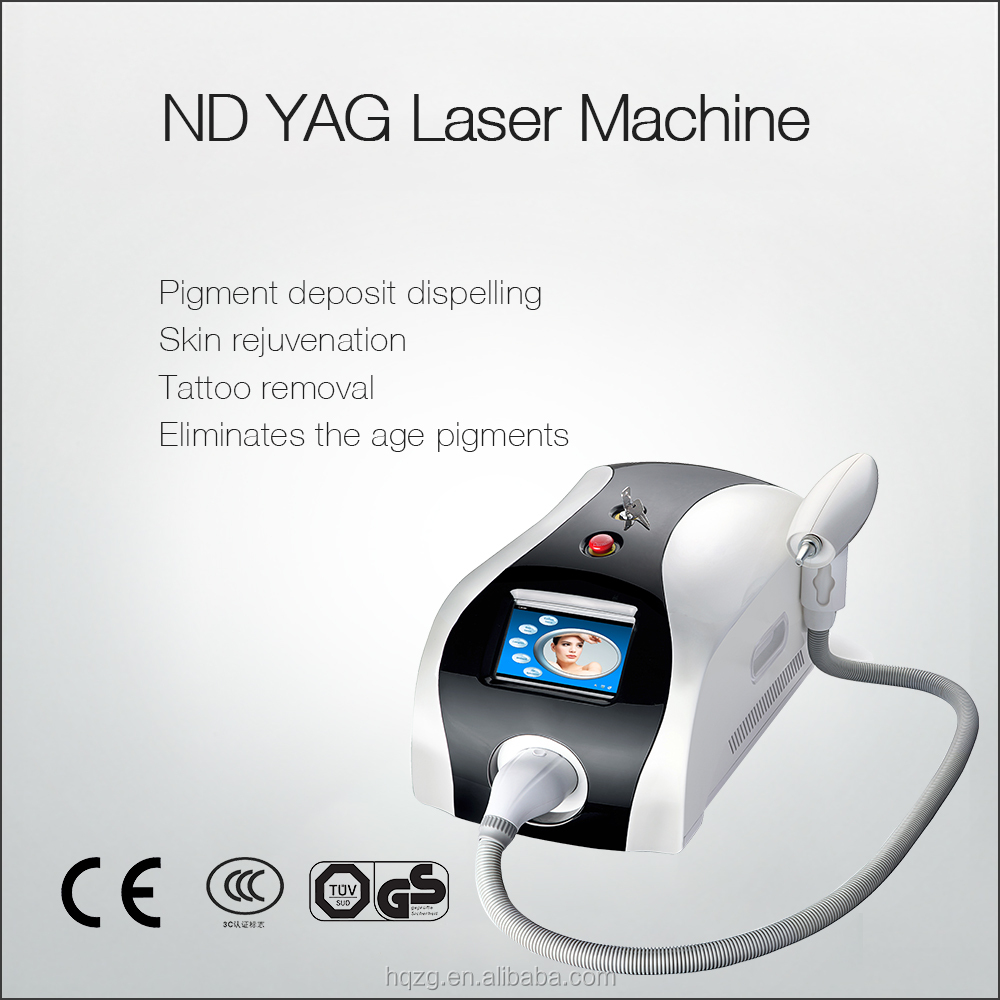 Beauty Salon Equipment Tatoo Removal Solar Radiation Meter Q Switch NdYag Laser