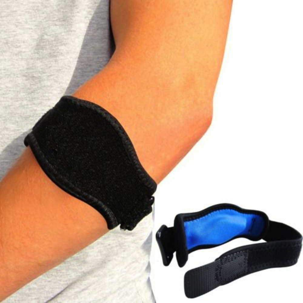 62bce8b8fe Get Quotations · ProActive Tennis Elbow Brace with Compression Pad, Wrist  Sweatband - 2 Count. Relieves pains