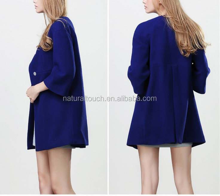 Latest design high quality elegant woolen women coat/ladies OL coat for autumn 2015 NT128
