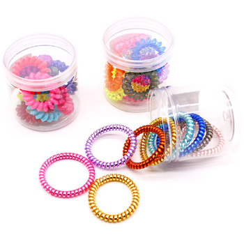 Plastic Spiral Hair Bands Elastics Ties For Women