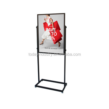 floor standing poster showing display 50x70cm double-sided display rack