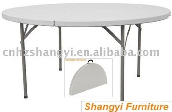 Superieur 5 Foot Plastic Banquet Round Folding Table,