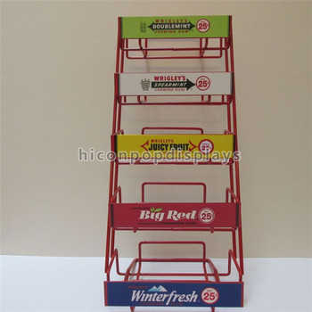 Free Design Grocery Store Fixture 40mm 40layer Metal Wire Shelving Magnificent Wrigley's Chewing Gum Display Stand