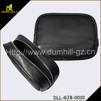 Custom Fashion Design Promotional Zipper Leather Bag Cosmetic Bag