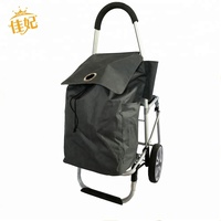Aluminum folding market grocery shopping trolley with chair