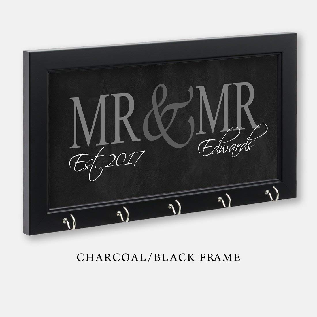 Mr & Mr Key Holder, Gay Gift, Gay Wedding Gift, Key Hanger, Wall Key Rack, Wall Key Holder, Key Holders, Personalized Gift, Home, Housewarming Gift, Wedding Gift