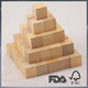 Wooden building blocks wooden cube wooden square