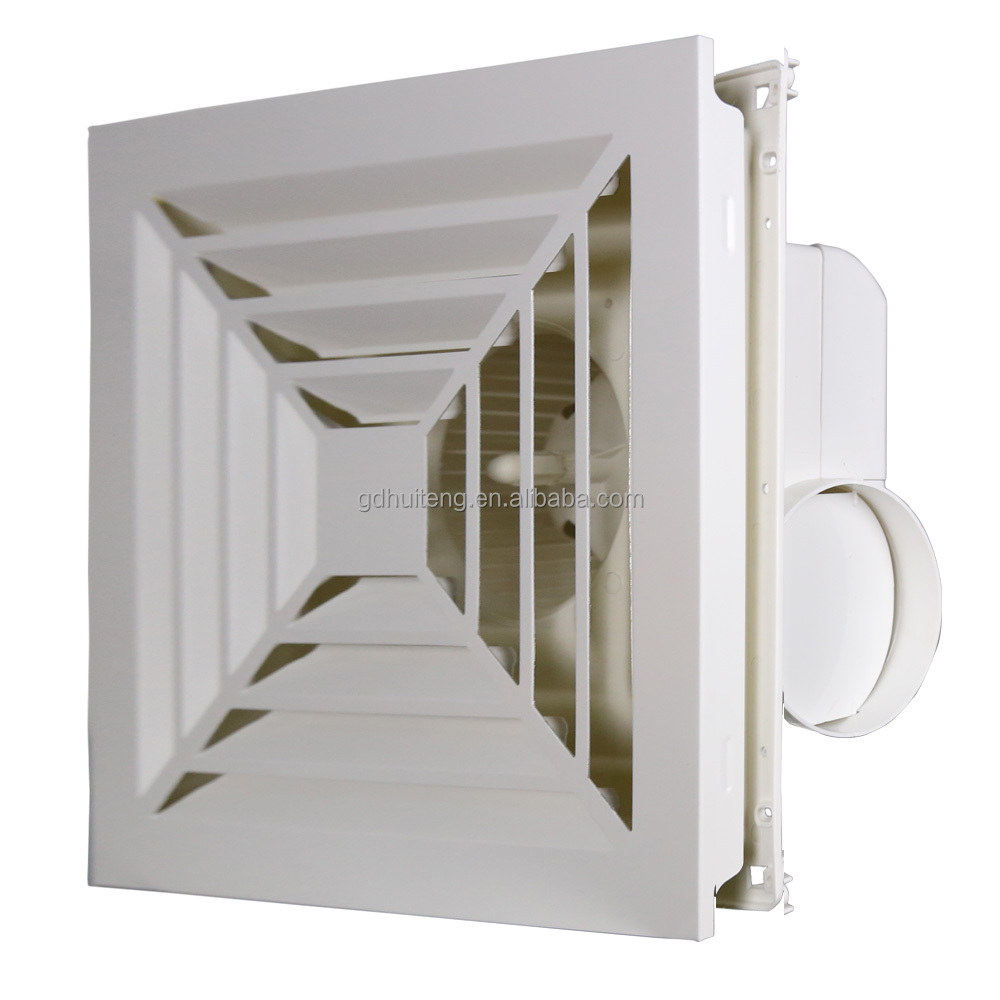 100% copper wall mounted aluminum cover ventilation exhaust fan