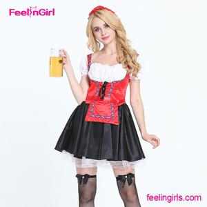 ca1b8c8a0e8 Plus Size Red Beer Women Sexy oktoberfest Costume Dirndl Dress