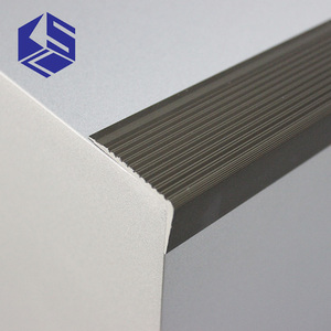 Innovative aluminium stair edge angle nosing step anti slip metal aluminium stair nosing
