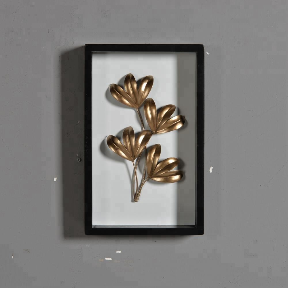 Mayco Gold Metal Flor Escultura Imagens Wall Art Decor Contemporânea