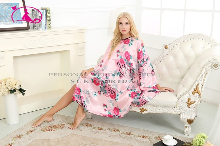 Floral Knee Length Maternity Hospital Gown Delivery Robe Labor Gown ...