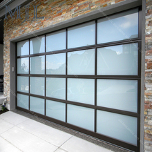 American Quality Standard Customized Aluminum Glass Panel Automatic Garage Door