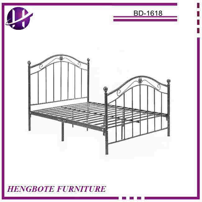 Estilo europeo de hierro forjado marco de la cama no plegable rey ...