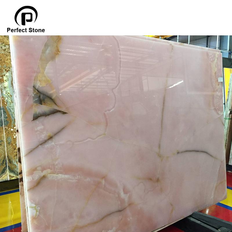Natural stone slab pink onyx price