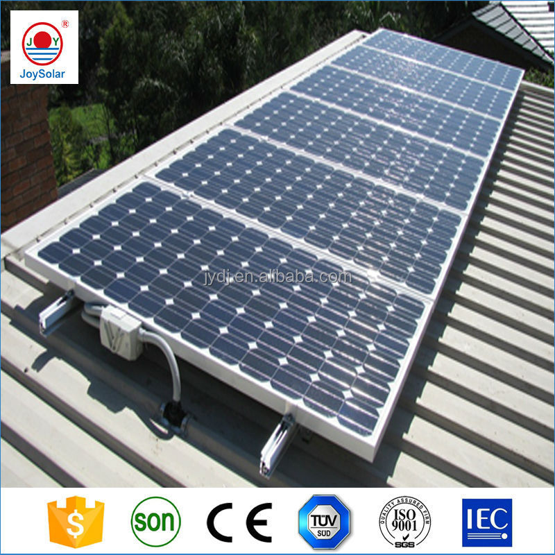 home mono A grade solar panel/roof tiles solar power systems in china