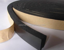 2017 most popular 1mm black foam tape adhesive backed foam rubber with high quality
