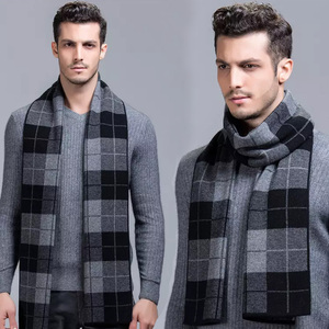 RM032-1 Various Styles Modern Professional High Quality Performance Winter Knit Muffler Men's Scarf