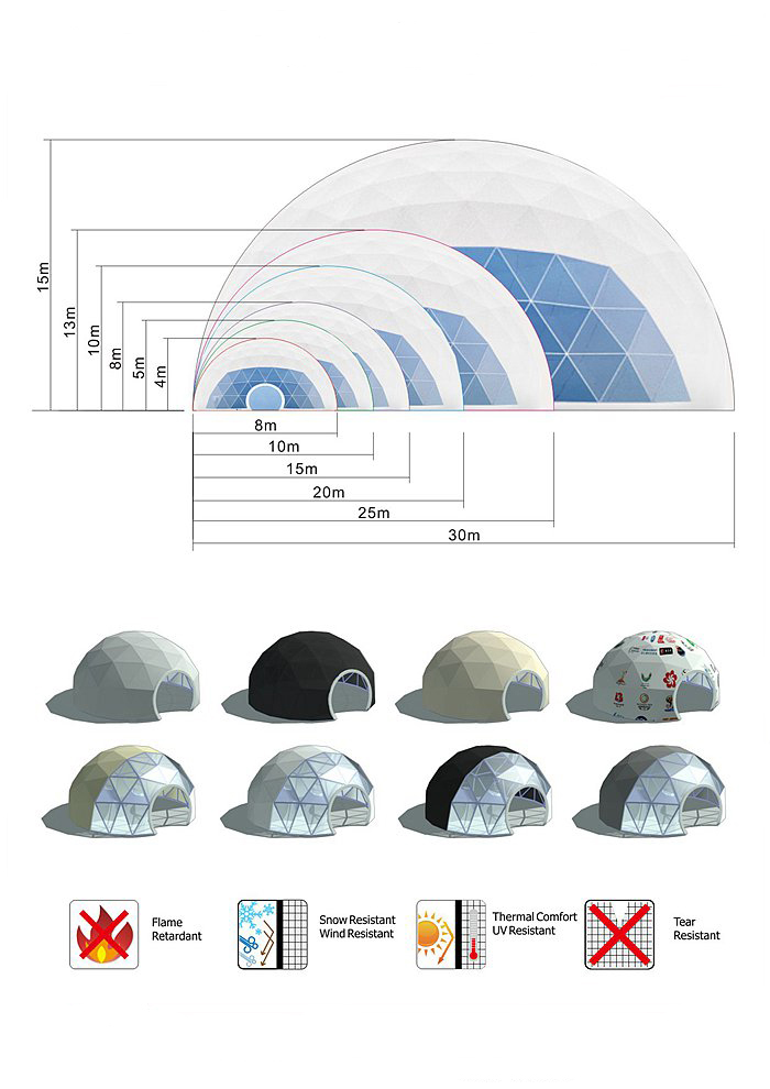Geodesic Dome House / Dome House Living / Igloo Dome House